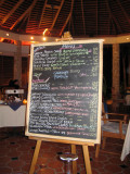 Dining at Shirvan Watermill Restaurant - the menu was all good