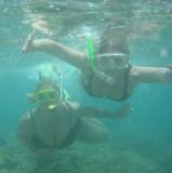 Lorie and Aimee snorkeling