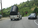 Moving a water tank by any means possible