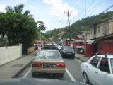 Typical traffic around Port of Spain