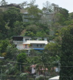Houses up the hill