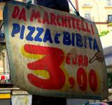 1 pizza 3 euro