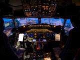 Cockpit 737 by night