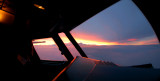 Sunrise from the cockpit