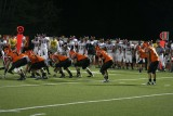 offense lines up against milford