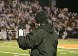 coach giesting during state championship game