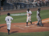 Reid Fronk scores after the bases loaded walk to Upton