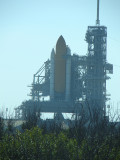 Space Shuttle Endevour on LC-39A in preperation for STS-130