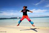 Jumping for joy in Boracay