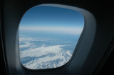 Over snowy and icy Canada
