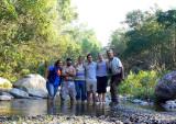 hiking the stream near Agua Fria, Colima, MX
