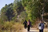 Tourists on Path in Meghla Parjatan.jpg