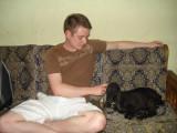 Drew and Goat in Sohail's House.jpg