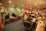 Officers and Crew in Officers' Recreation Room
