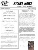 November 2007 Lewis County Chapter Newsletter