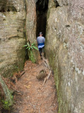 Beginning of the crack - entrance to the cave