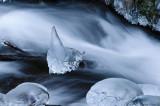 Ice on Wahkeena Creek