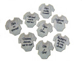 Onesie-shaped tags