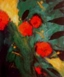 Mohn Leinwand 50x60 Acryl