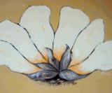 white flower Leinwand 60x80 Acryl