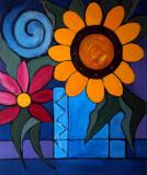 Sunflower Leinwand 50x60 Acryl