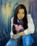 Sabina Leinwand 50x60 Acryl