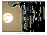 Moon and Waterwheel (HDR)