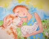 feeding baby Dora (Dennis & June)