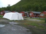 Cooking tent plus cabins at Tromso