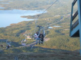 Cable car ride to Swedish fells at Abisko