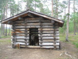 Some of the reindeer seemed to live in cabins