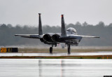 Rainy takeoff - F-15E