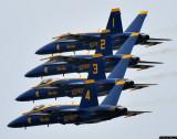 Blue Angels - 4 ship formation