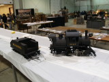 A Reading 0-4-0 camelback in 1 scale.