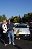 Linda Vaughn and friend
