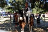 Lovely lass on Gypsy Horse