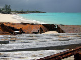 Rusting Barges on the Beach Middle Caicos