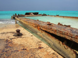 Rusting Barges on the Beach Middle Caicos 02