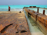 Rusting Barges on the Beach Middle Caicos 05