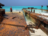 Rusting Barges on the Beach Middle Caicos 06