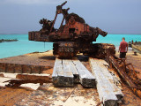 Rusting Barges on the Beach Middle Caicos 07