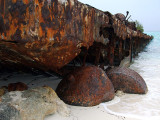 Rusting Barges on the Beach Middle Caicos 09
