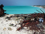 Rusting Barges on the Beach Middle Caicos 10