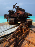 Rusting Barges on the Beach Middle Caicos 11