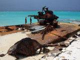 Rusting Barges on the Beach Middle Caicos 16