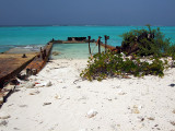 Rusting Barges on the Beach Middle Caicos 17