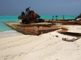Rusting Barges on the Beach Middle Caicos 19