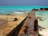 Rusting Barges on the Beach Middle Caicos 20