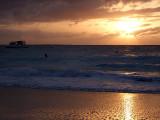 Sunset from Grace Bay Beach 05
