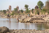 Washing in the Betwa River Orchha